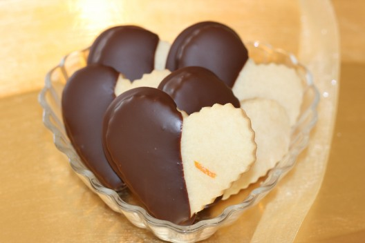 Chocolate Shortbread Hearts