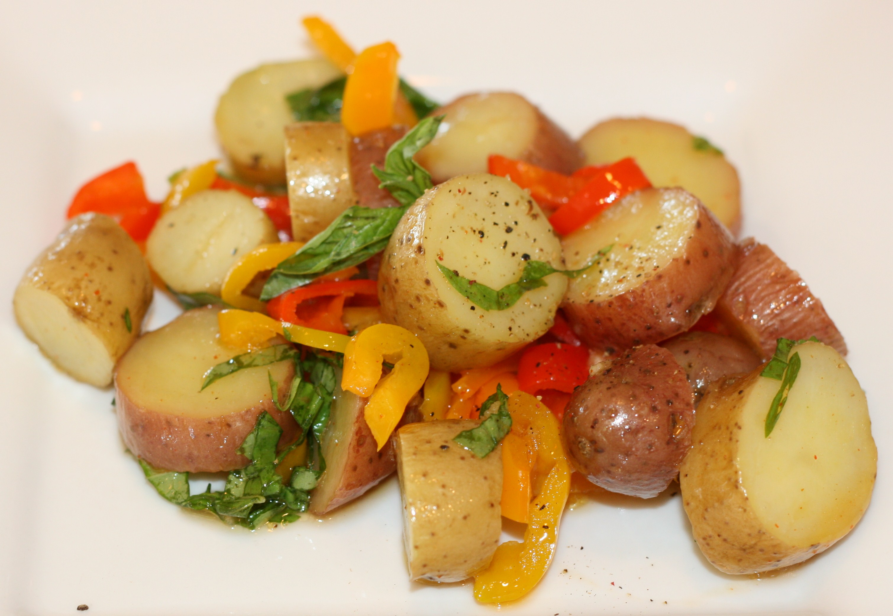 how to make sweet peppers potato salad