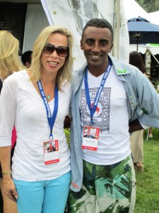 Sydne George and Marcus Samuelsson