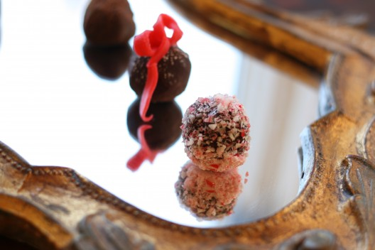 Chocolate Peppermint Ganache Truffles