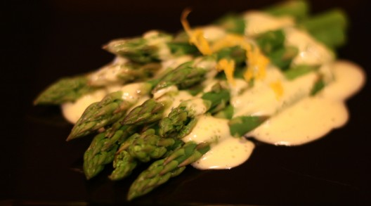 Tender crisp asparagus with Hollandaise