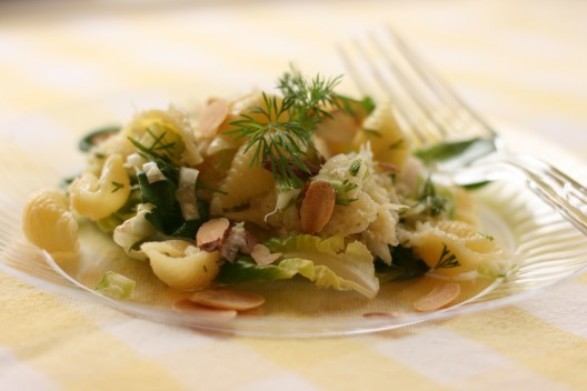 Light and Lemony Crab Pasta Salad