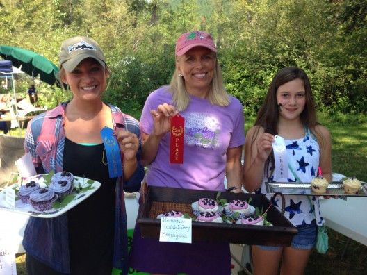 2014 Huckleberry Festival Baking Contest Winners- L to R- Ellie Waite, Heidi Van Diest, Madison George