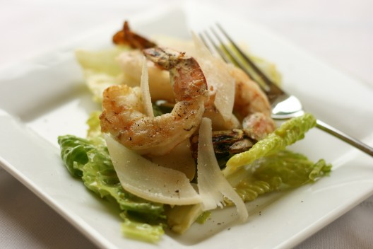 Grilled Garlic Shrimp Caesar Salad