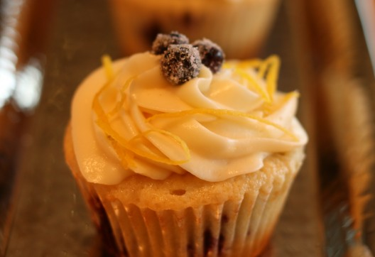Lemon Huckleberry Cupcakes