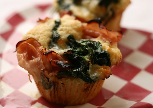 Honey Ham and Spinach Florentine Muffins