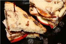 Roast Pork and Apple Sandwiches on Raisin Bread
