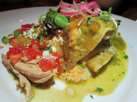 Elote Smoked Chicken Enchiladas