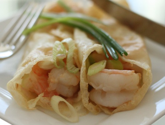 Shrimp Scampi Entrée Crepes