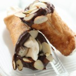 Two-bite Amaretto Cannoli