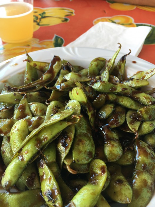 Edamame from The Raven on Woods Bay at Flathead Lake