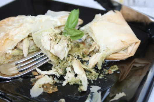 Pesto Chicken in Phyllo