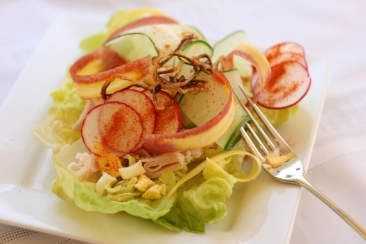 Garden Fresh Chef's Salad with Crispy Shallots