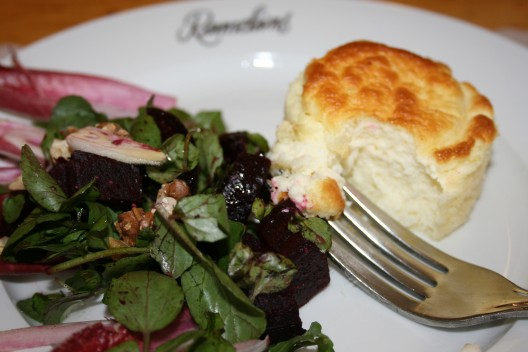 Twice Baked Goat Cheese Soufflés