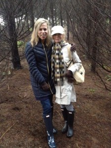 Sydne George and Polly Kolstad truffle hunting at Angela Estate