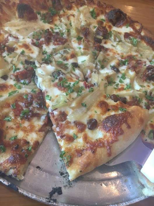 Fennel Marmalade, Bacon and Gouda Pizza from Biga Pizza in Missoula