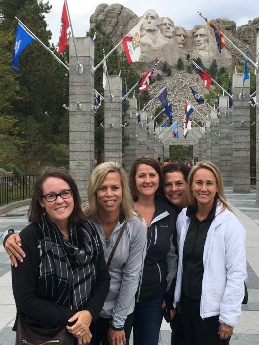 Jennifer Guthrie, Sydne George, Christina Tennican, Danielle Havens and Andrea Wood at Mount Rushmore
